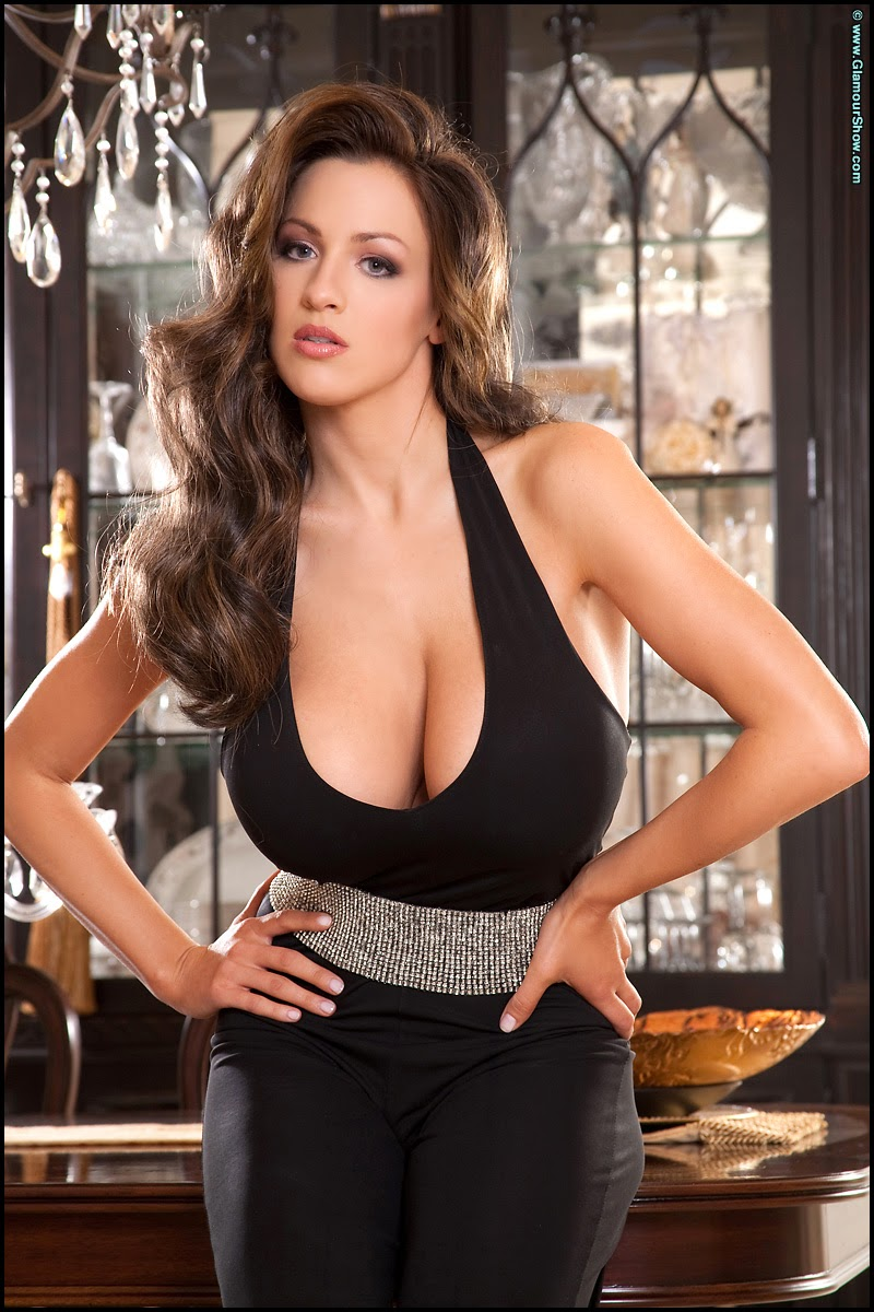 Jordan Carver Hot Sexy Removing Black Tops Big Boobs -9607