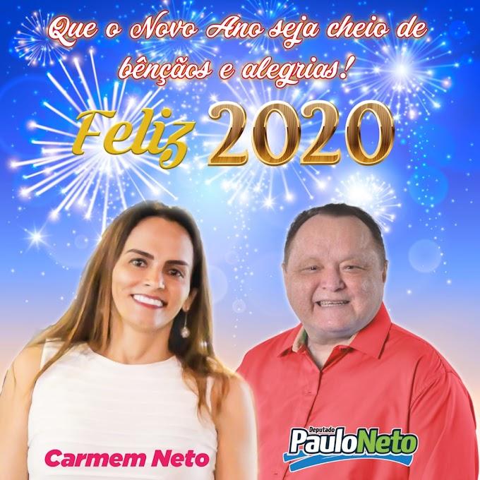 Mensagem de Ano Novo do Deputado Paulo Neto e Carmem Neto