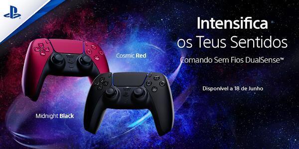 Comando sem fios DualSense™ estará disponível em duas novas cores no próximo mês