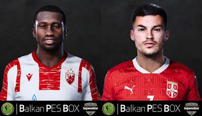 PES 2021 Faces Sekou Sanogo & Nemanja Radonjic by Bojanredstar