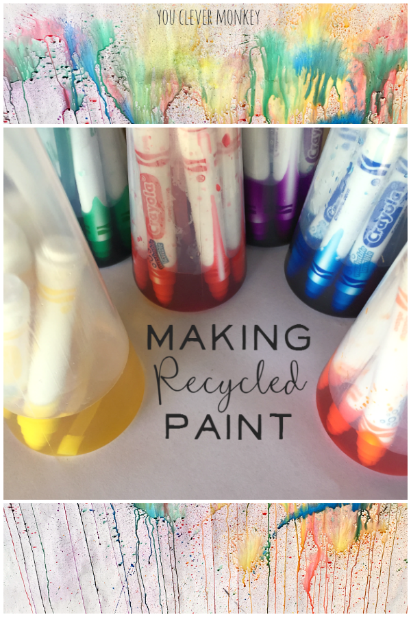 How to Make Recycled Paint - simple to make beautiful water colour paint from old textas | you clever monkey