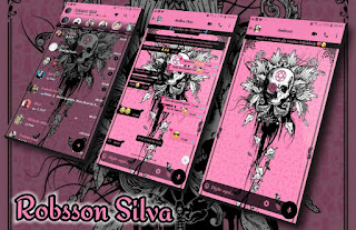 Skull Pink Theme For YOWhatsApp & Fouad WhatsApp By Robsson
