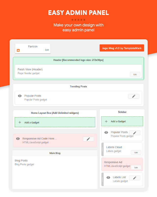 Easy Admin Panel