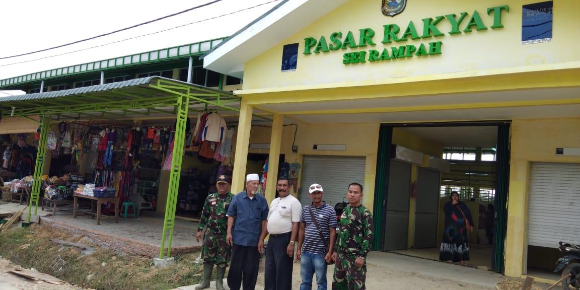 pedagang sudah menempati los baru di dua gedung bangunan Pasar Rakyat Sei Rampah