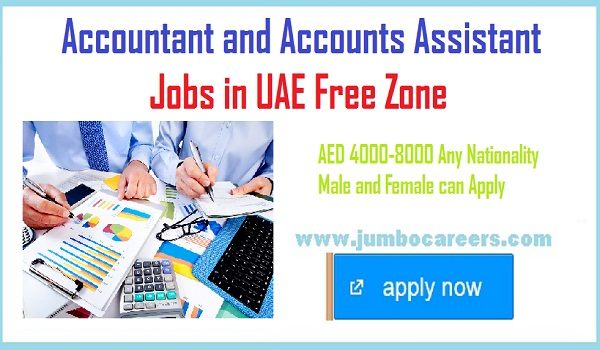 Accountant jobs with attractive salary, available job vacancies in UAE,