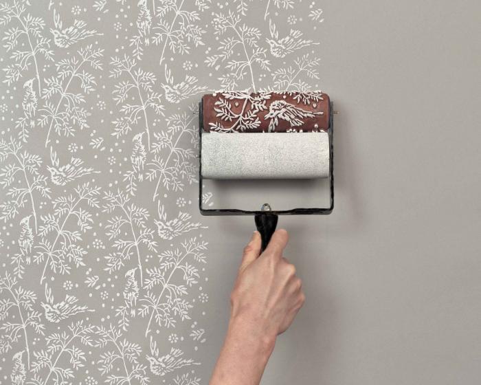 Pittura Pareti Shabby Chic : Effetto carta da parati un rullo magico shabby chic interiors