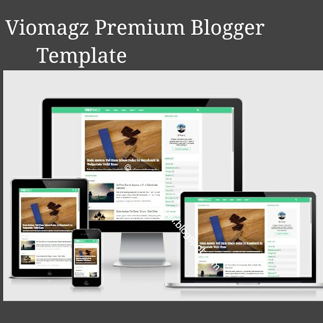Viomagz latest premium blogger template