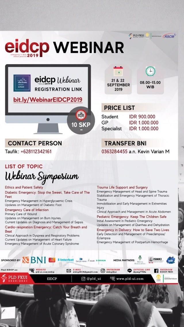 EIDCP 2019: WEBINAR REGISTRATION OPEN!