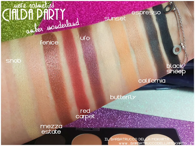 amber wonderland  swatches neve cosmetics cialda party review recensione makeup