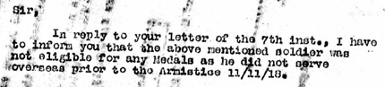 Extract from a letter to the father of a deceased young soldier