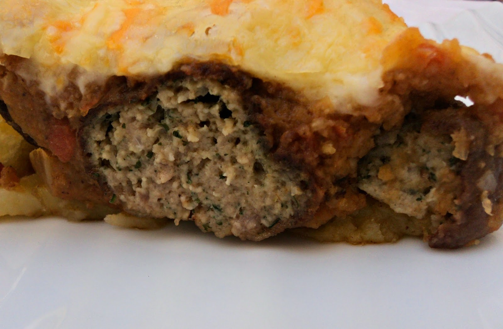 receta casera tarta patatas albóndigas