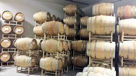 Barrels at Societe Brewing.