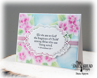 Diana Nguyen, Sweet as Perfume, Our Daily Bread Designs, Vintage Borders, Scripture, card