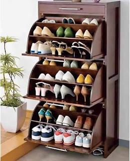 rak sepatu jati minimalis