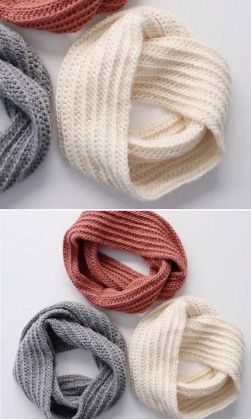 Simple Crochet Dreamy Infinity Scarf - Free Pattern