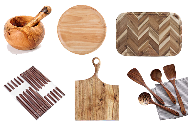 Dụng cụ nhà bếp bằng gỗ tự nhiên
