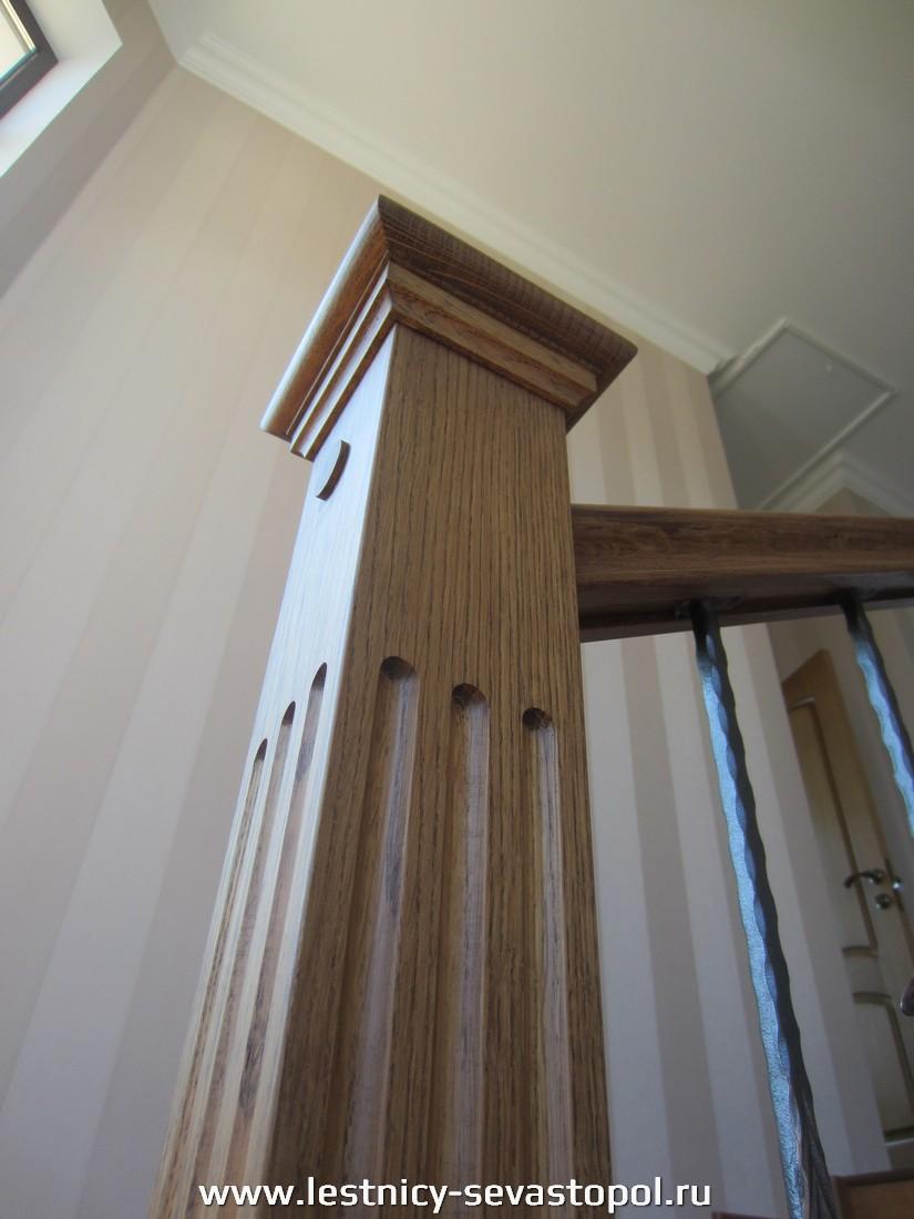 Лестница металлический каркас деревянные ступени