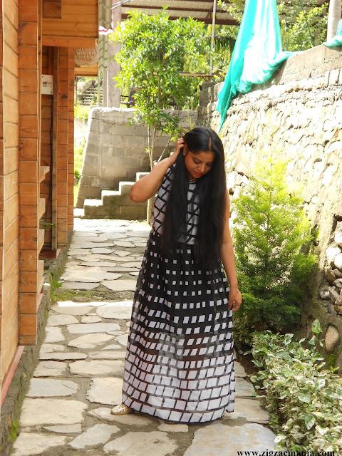 OOTD: Monochrome Craziness| Maxi Dress
