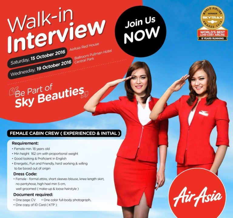 AirAsia Cabin Crew Interview Experience