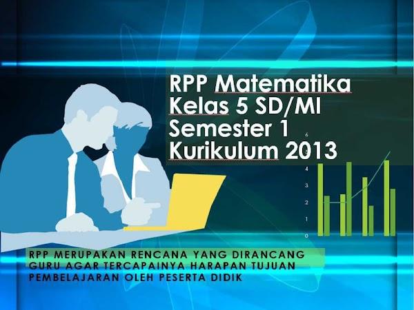 RPP Matematika Kelas 5 Semester 1 Kurikulum 2013 Revisi 2018