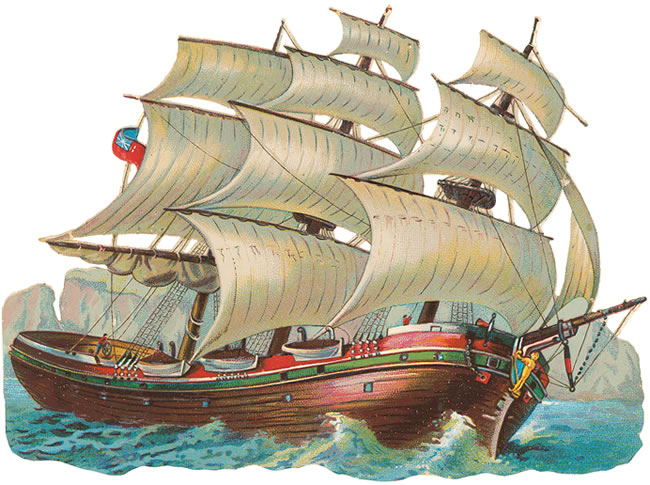 clip art sailing ship - photo #50
