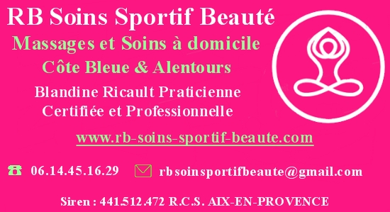 Carte professionnelle RB Soins Sportif et Beauté