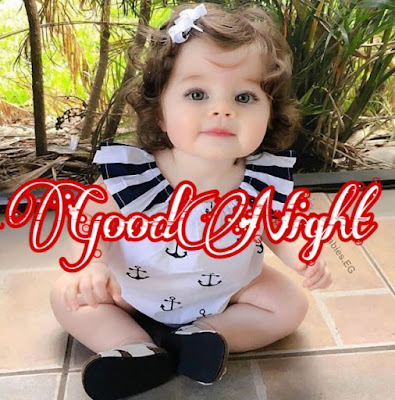 cute baby good night image pic  photo hd