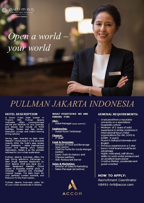 Lowongan Kerja Hotel 2019 Pullman Jakarta Indonesia Pos Kerja