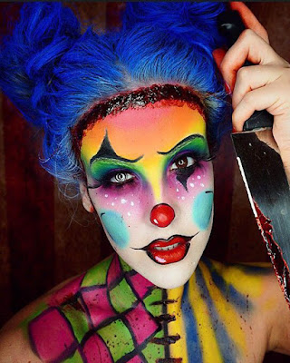 Makeup clown of colors women
