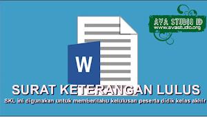 [.docx] Format Surat Keterangan Lulus (SKL) SD/MI, SMP/MTs dan SMA/MA TP. 2020/2021