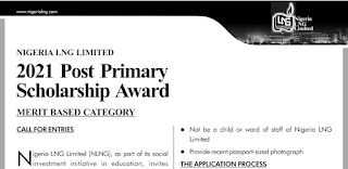 NLNG Post-Primary Scholarship Form 2021/2022 [Merit Based]