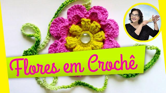 Edinir Croche ensina flores em croche