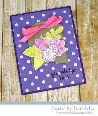 You Make Life Bloom card-designed by Lori Tecler/Inking Aloud-stamps and dies from Reverse Confetti
