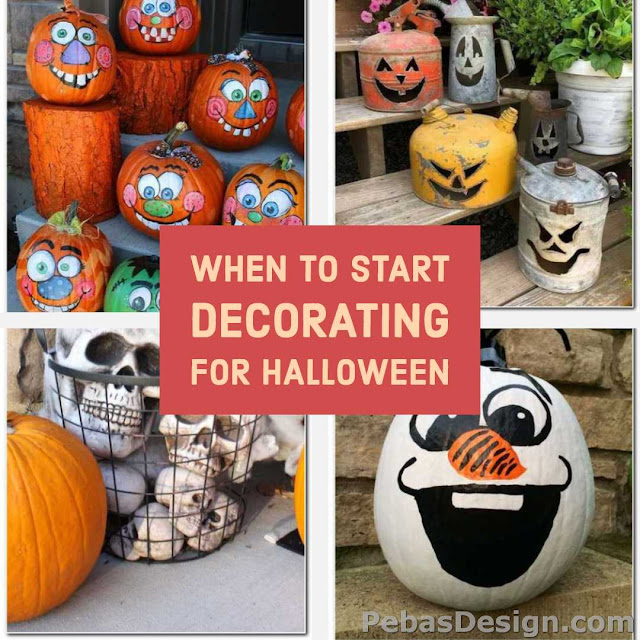 What is the most popular time to start Halloween decorating