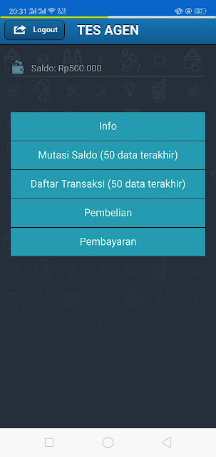 Server Pulsa PPOB Transkasi via Android