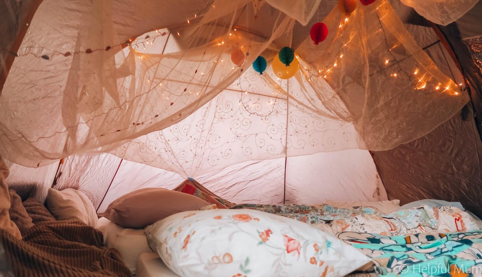 sleepover tent