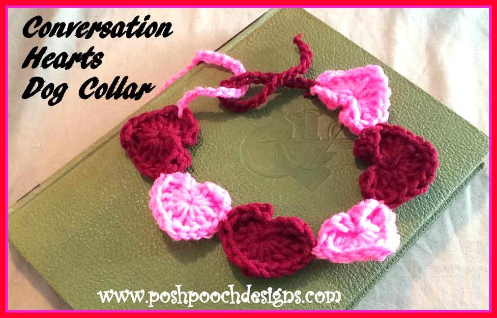 Posh Pooch Designs Dog Clothes Conversation Hearts Dog Collar