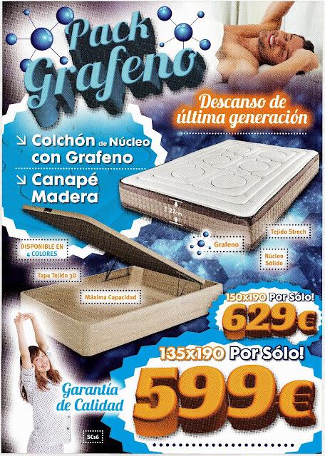 Colchón de grafeno más canapé de madera en Colchones Zaragoza