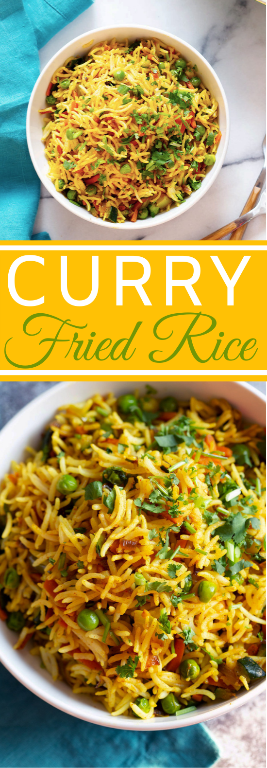 Curry Fried Rice #vegetarian #vegan #dinner #recipes #meatless