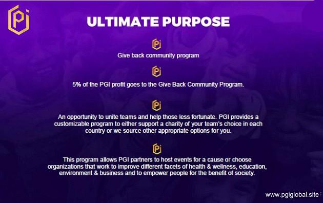 Ultimate Purpose of PGI