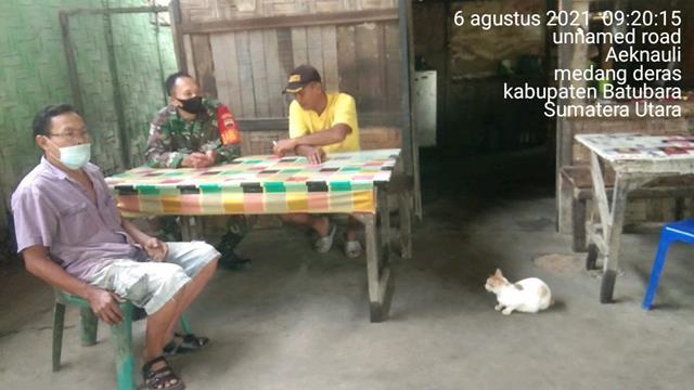 Eratkan Silaturahmi Dengan Masyarakat, Personel Jajaran Kodim 0208/Asahan Laksanakan Komsos