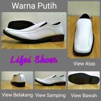 daftar harga sepatu pria terbaru Sepatu Pantofel Formal Kerja Casual Pria Jepang Korea Big Size Ukuran Super besar jumbo Putih White 43 44 45