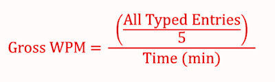 online-english-typing-test-gross-speed-equation