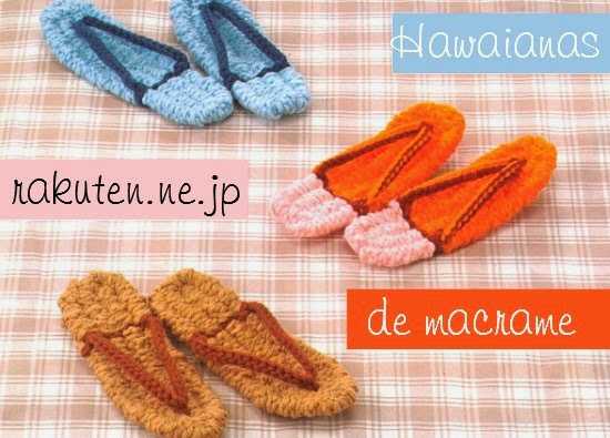 Zapatillas Hawainas de Macrame. Diy