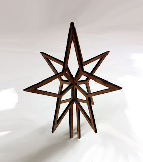 the stencil laser christmas tree topper minimalist star