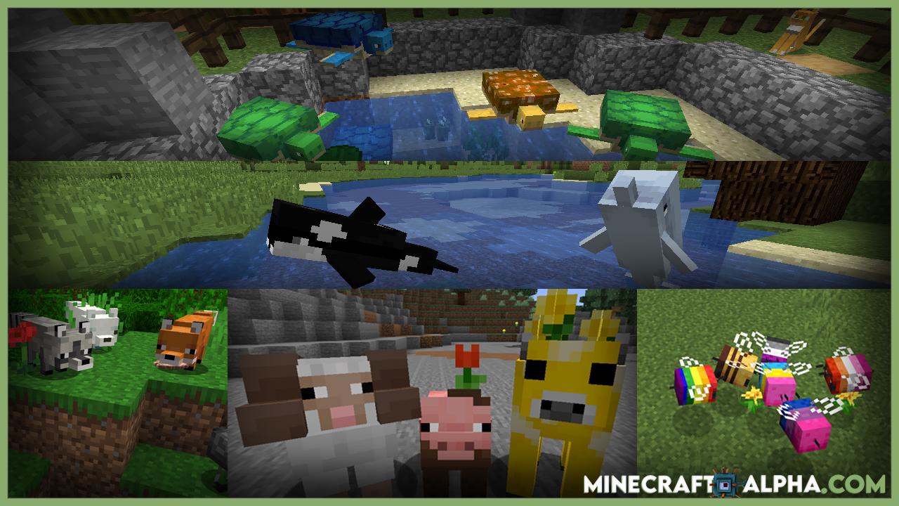 Creatures+ Resource Pack 1.17.1 (More Animal Skins)