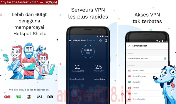 Download HotspotShield VPN Pro Apk Unlimited