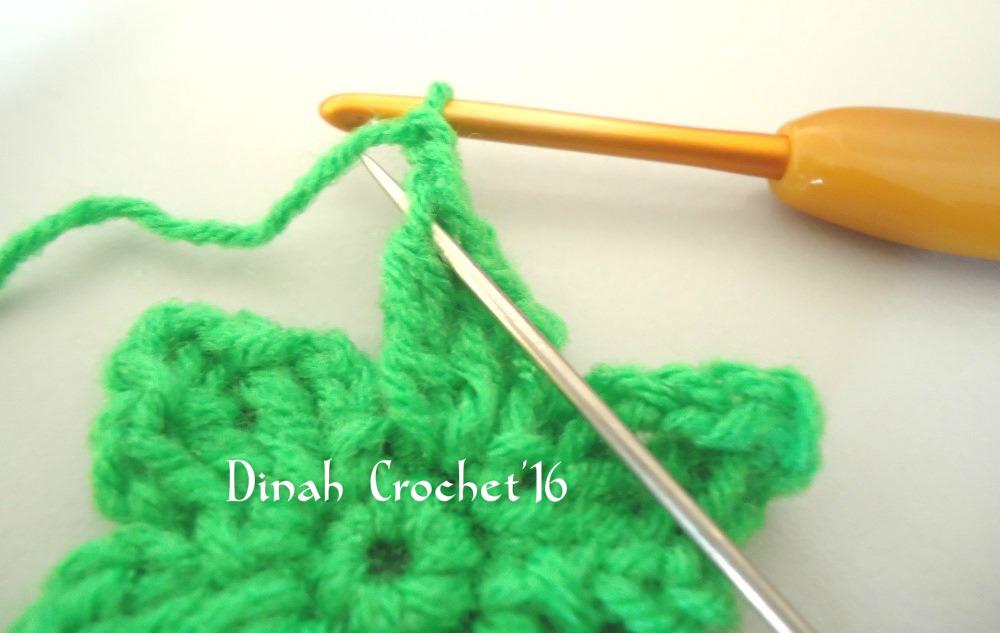 Dinah crochet tutorial kait strawberry ulang kait sampai mendapat 6 petal ccuart Gallery