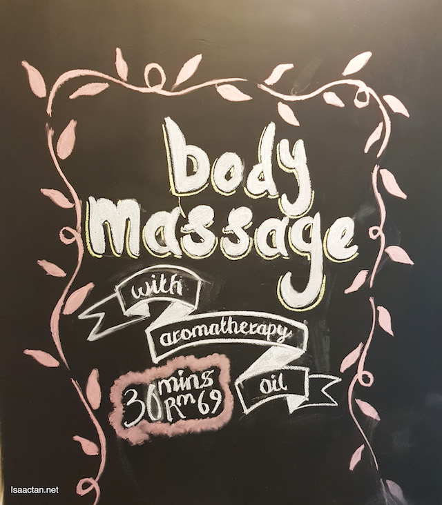Body massages with aromatherapy oil, you would want one of these!