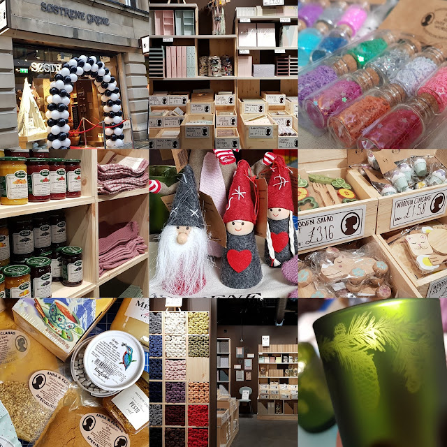 Sostrene grene Manchester Store Launch collage of scenes from inside and close ups of products